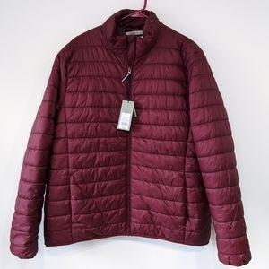 NWT Goodfellow Co Men's Burgundy Puffer Jacket